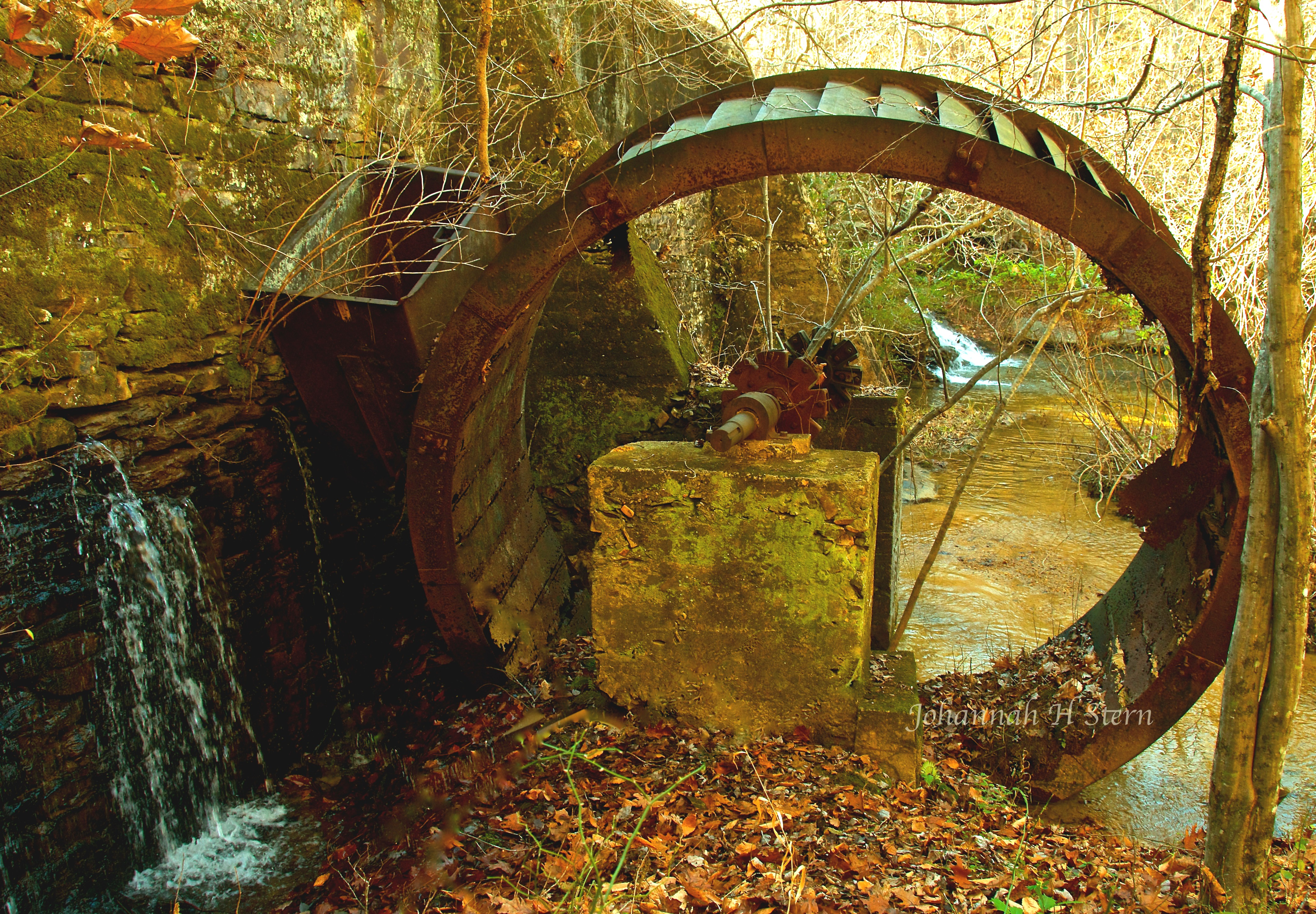Vade Mecum Dam and Water Wheel at Hanging Rock State Park, photo by Johannah H. Stern