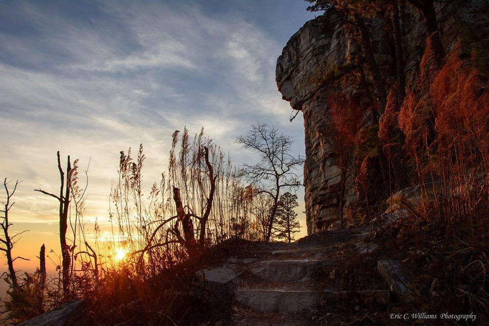 Ledge-Trail- Pilot Mountain State Park -Eric-williams