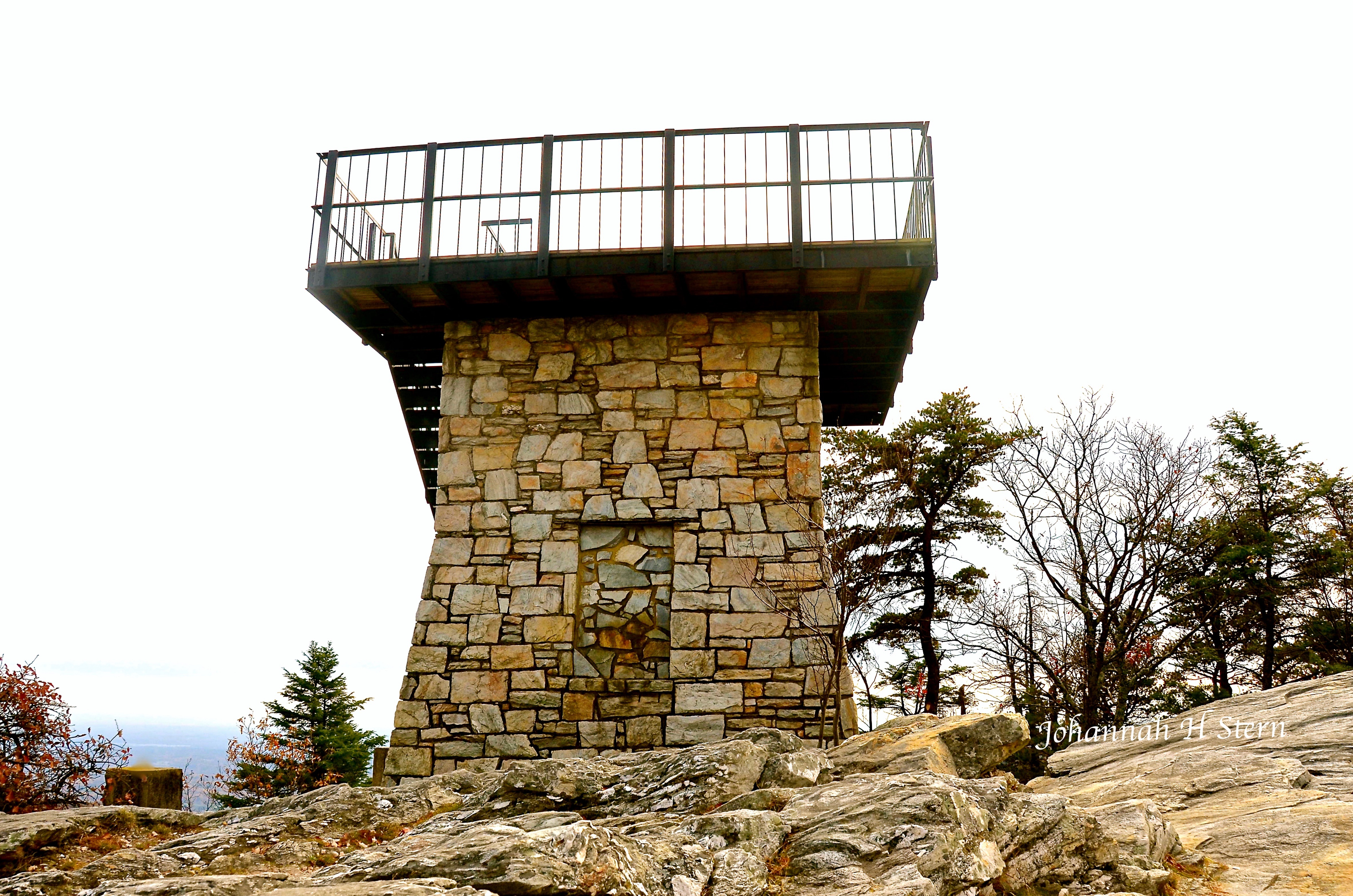 Lookout Tower - Moore's Knob in Hanging Rock State Park. Photo by Johanna H. Stern.