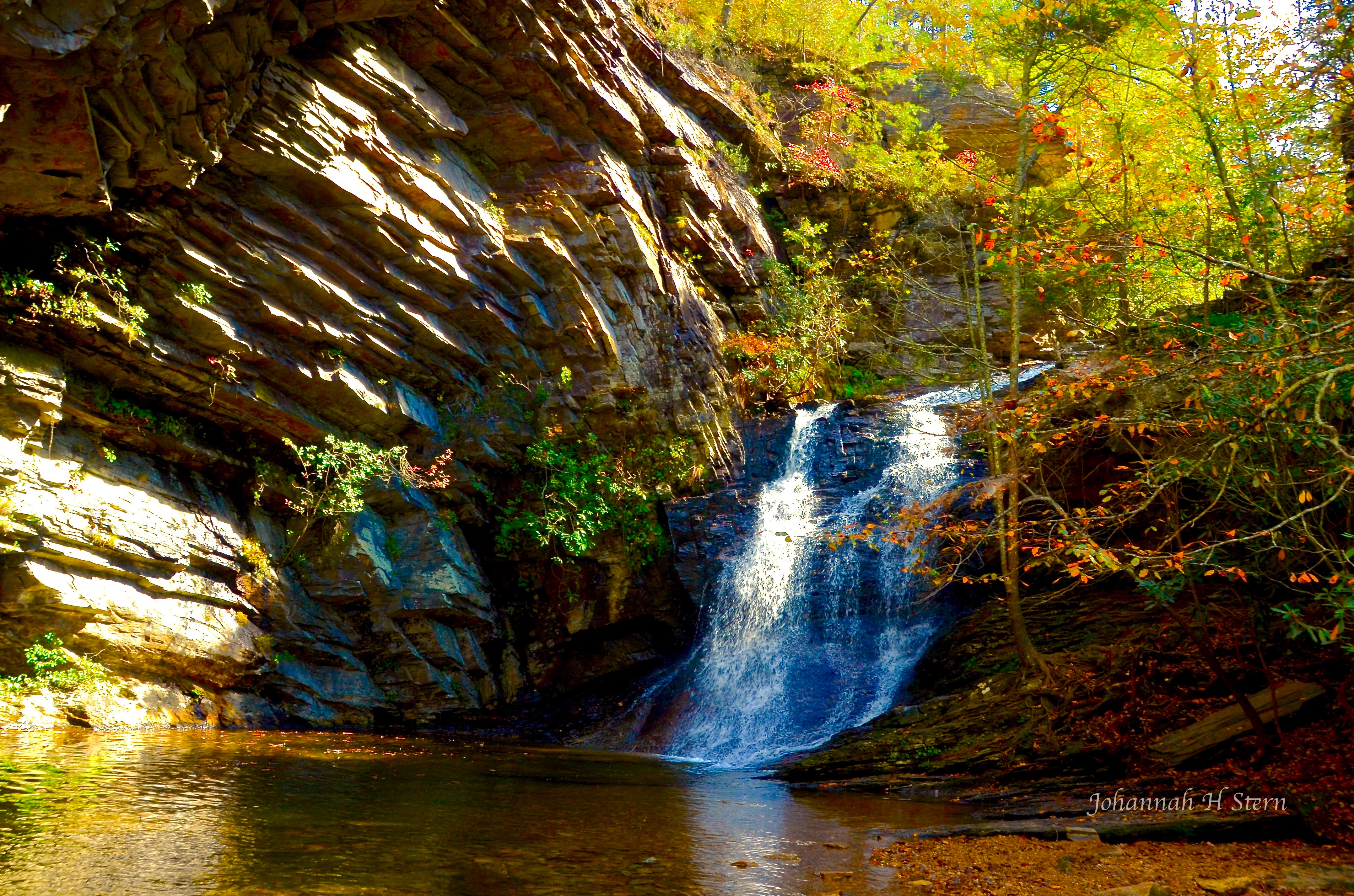 Lower Cascade Fall in Hanging Rock State Park. Photo by Johannah H. Stern.