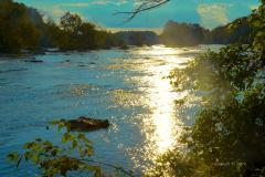 The Yadkin River in Pilot Mountain State Park, photo by Johanna H. Stern