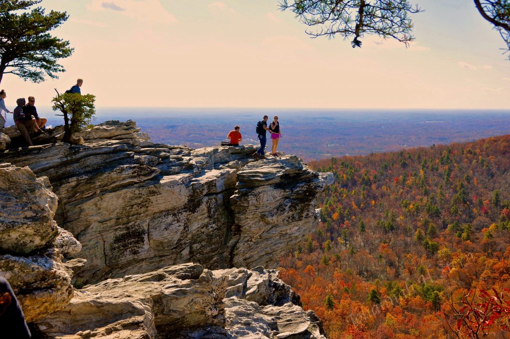 The Hanging Rock at Hanging Rock State Park, photo by Johanna H. Stern
