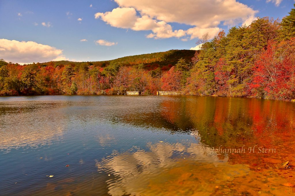 The Lake in Autumn at Hanging Rock State Park, photo by Johanna H. Stern