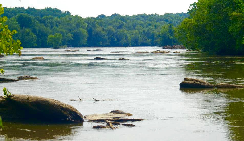 The Yadkin River in Pilot Mountain State Park, photo by Johanna H. Stern